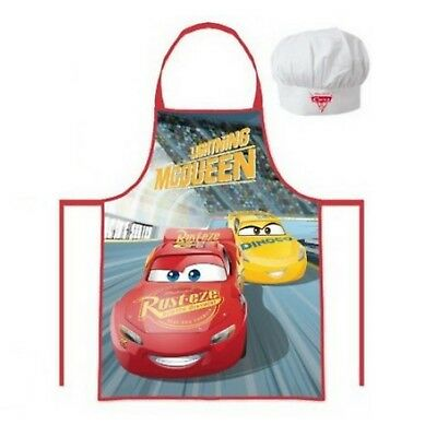 Personalised Embroidered Disney Cars Rusteze Apron Hat Set 3-8y Boys Little Chef