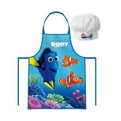 Personalised Embroidered Disney Finding Dory Apron Hat Set 3-8y Little Chef