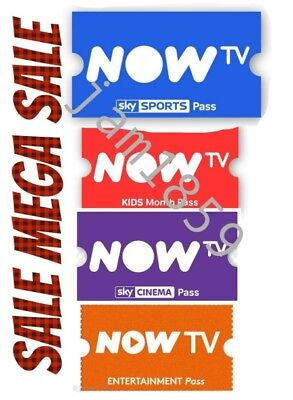 1 Month NOW TV Pass Entertainment, Kids & Movies. Sky Sports Pass - 1 Day Pass