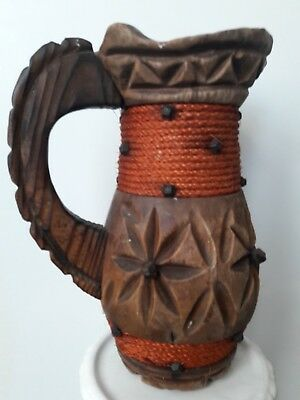 Beautiful hand crafted wooden jug, beautiful item to buy