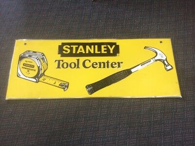Vintage 1970's Stanley Tool Center Advertising Sign Tin Very Nice
