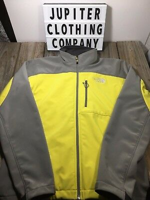 THE NORTH FACE Men's Jacket Full Zip Neon Green Gray Polyester Small S