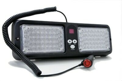 LED Frontblitzer Sonnenblende Blau/Rot, US Police, US Army, Dash Light