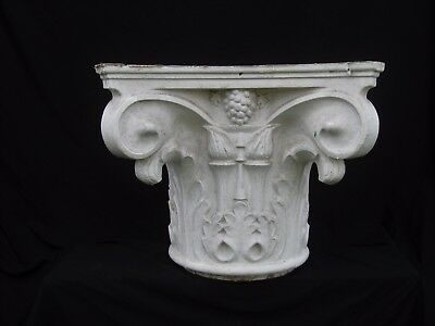 Antique Painted Cast Aluminum Column Capital