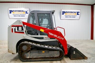 2015 Takeuchi Tl8 Cab Skid Steer Track Loader, 74 Hp, 2-Speed, Ac/heat!