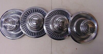 Vintage [Oem 552504] Chevy Rally Wheel Derby Style Center Caps (Set Of 4)