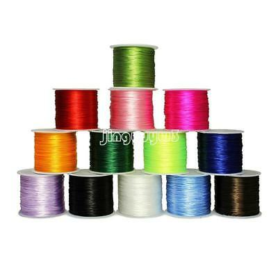 50M/Roll Waxed Cotton Cord 0.8mm Jewelry Making Thread String Beading