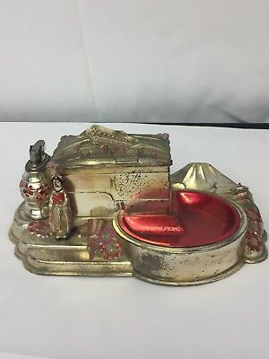 Made In Japan Vintage Cigarette Box with Music Box,  Lighter & Ashtray