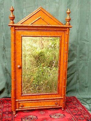 Rare R.j. Horner Aesthetic Movement Faux Bamboo Medicine Cabinet C.1880's-90's