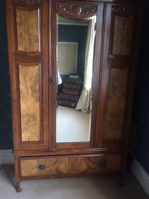 Edwardian Wardrobe and Triple Mirrored Dressing-table