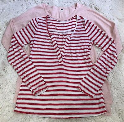 Old Navy Maternity Lot of 2 Tops Long Sleeve Size S