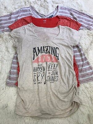 A Pea in The Pod and Old Navy Maternity Lot of 3 Tops Size L Casual