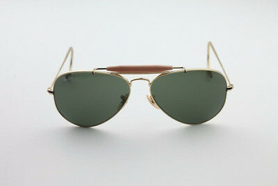 e254550e27 New Ray Ban Sunglasses AVIATOR OUTDOORSMAN Gold RB 3030 L0216 G-15 Glass  Lens