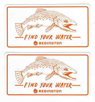 Redington Fishing Sticker Decal 5-1/4 Inches Long Size New Set of 2