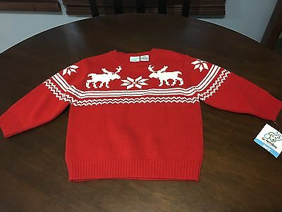 Toddler Boy Size 2T Greendog Red Pullover Sweater Christmas