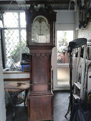 grandfather clock longcase mahogany