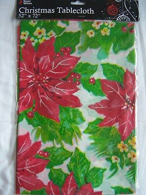 Christmas Tablecloth  Wipe Clean Dining Kitchen Table Cover Decoration 3 Designs