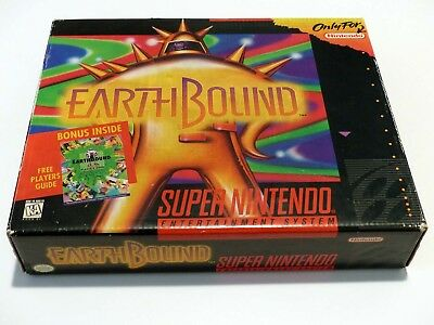 SNES Super Nintendo - EARTHBOUND LARGE BOX COMPLETE - AMAZING GREAT CONDITION
