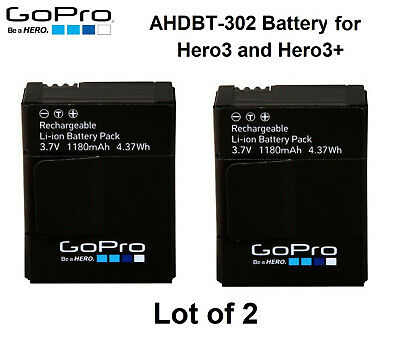 New Genuine Original GoPro HERO3 HERO3+ 3.7V 1050mAh 3.885Wh AHDBT-301 Battery