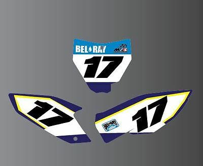 HUSQVARNA TE TC FE 85 125 250 450 Number boards and airbox backgrounds graphics