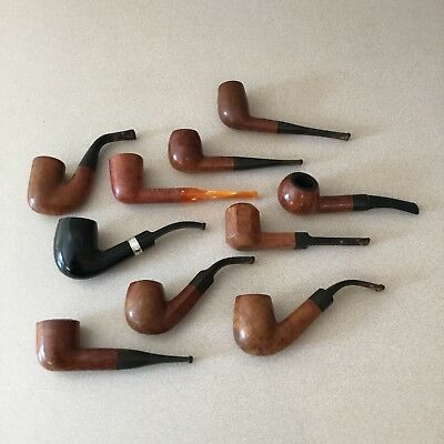 Lot of 10 Assorted Quality Pipes
