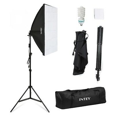 INTEY Photo Studio Softbox 50 x 70 cm avec Ampoule E27 de 85W, Kit...
