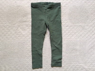 Tea Collection Skinny Solid Leggings 3T Cedar Green Toddler Girl's