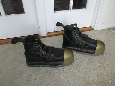 Antique Deep Sea Diving Scuba Weighted Military Navy WWII Boots Shoes