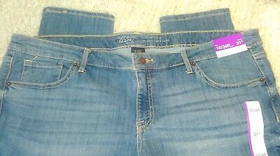MOSSIMO Brand Women's Plus Size 18 Skinny Stretch Jeans Inseam 31 Low Rise NWT