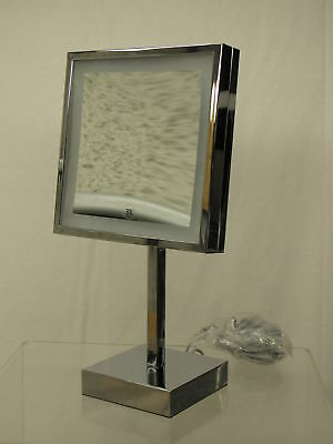 Kimball & Young 71243 Single-Sided LED Square Vanity Mirror, qChrome