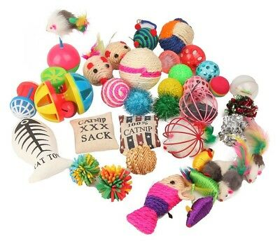 Fashion's Talk Jouet Pour Chats Kitty Jouets Kitten Toys Variety Pack 20 pièces