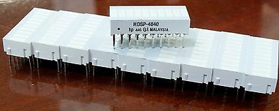 LED Bar 10-Pieces HDSP-4840 20-Pin Graph hp 446 Array Dip Yellow NEW