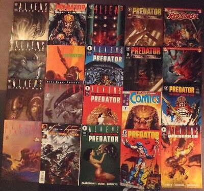 Aliens, Predator...lot of 18 Dark Horse + 2 Dynamite Comics