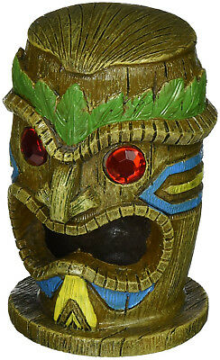 Ancient Tiki Gazer Head Ruin Aquarium Figure Ornament Decor Fish Tank Landscape
