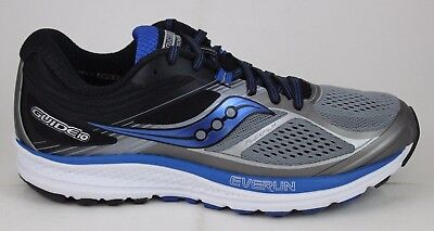 d2eb2baa MEN'S SAUCONY GUIDE 10 S20350-1 Grey/Black/Blue New - Wide Widths Available