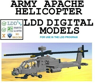 Lego Custom Model Helicopter Ah 64 Apache Instructions 1000