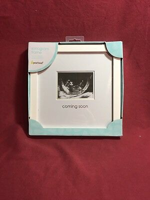 New In Box Pearhead Sonogram Ultrasound Frame White - Coming Soon - Cute!!!