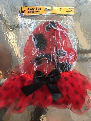 Lady Bug Costume W Tutu