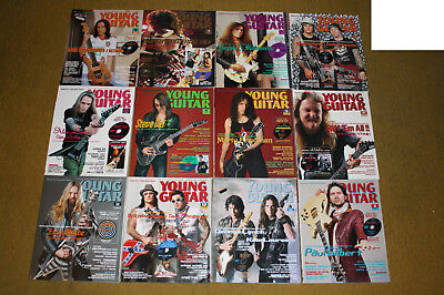 Various Young Guitar Back Issues Vai, Wylde, Gilbert, Yngwie, Satriani, Petrucci