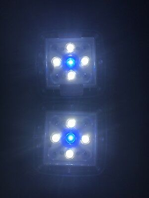 TMC Aquaray 2 LED Tile Unit Marine White And Blue Light Mini 500 used on Red Sea
