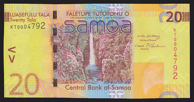 Samoa 2008 Twenty 20 Tala P 40a Low Serial Number CU UNC Currency Bank Note