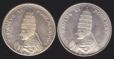 Pair of Medals- Pope Paul VI 1975 Two Different Dies Vatican Papal Medals