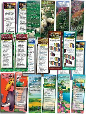 Bible Cards - Assorted Pack of 10 Bookmark Size Cards Plus Free Gospel DVD