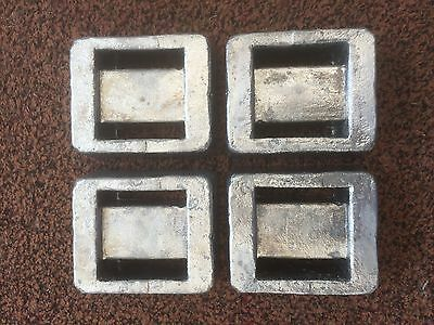 4 x 1.8kg Solid Lead Scuba Diving Weights = 7.2kg Total (Free Postage)