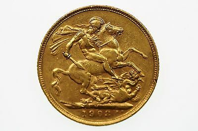 1903 Melbourne Mint Gold Full Sovereign in Very Fine Condition