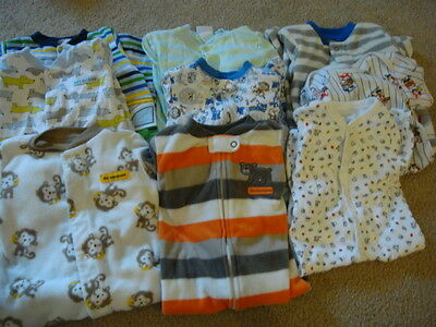 Baby Boy 6 9 months Sleeper Pajama Clothes Lot