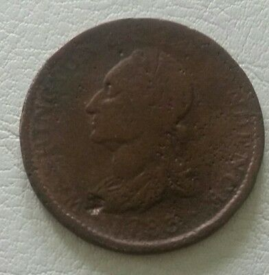 1783 George Washington cent colonial coin