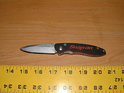 SNAP-ON FOLDING POCKET KNIFE W/ POCKET CLIP  7Cr17MoV