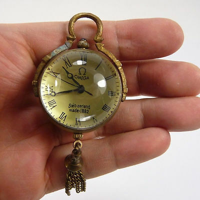 decorated china old style handwork collectable usable glass ball clock