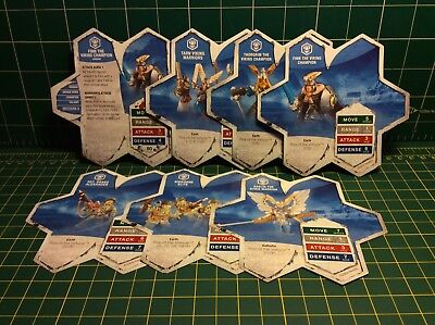 Heroscape - Stat Cards ONLY Lot - No Figures, No Terrain